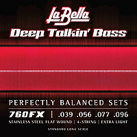 La Bella Deep Talkin' Flatwound Bass *