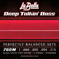 La Bella Deep Talkin' Black Nylon Bass *