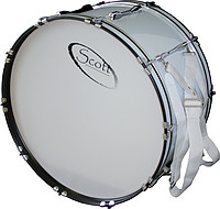 24x12 Marching Bass Drum weiß m. Gurt