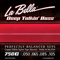 La Bella Bass Copper White Nylon *