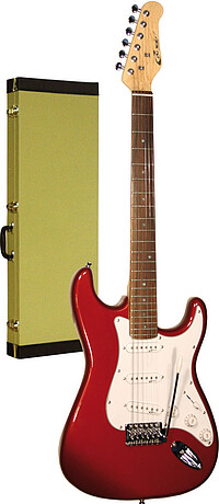 Career Stage-​1 E-​Gitarre met. red