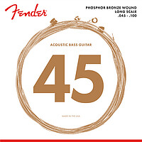 "Fender® Bass Strings 8060 34"" Ac.​045/​100"