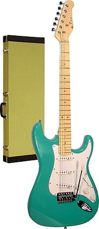 Career Stage-​1 E-​Gitarre surf green/​mpl