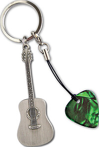 GA Acoustic Guitar Metal Keyring