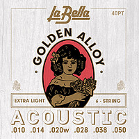 La Bella Golden Alloy Acoustic *